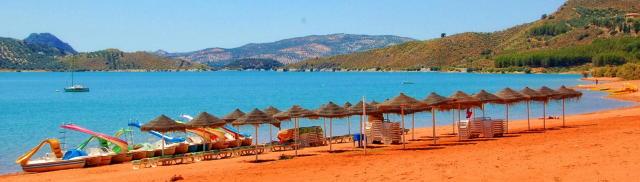 Iznajar Lake inland beach