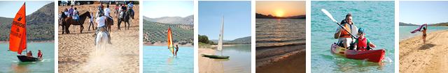 Iznajar Andalucia Espagne Ventes immobilières sur le lac et la plage